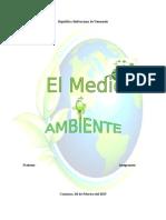 Informe Del Medio Ambiente