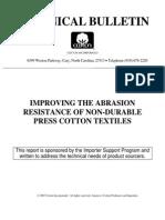 Improving Abrasion Resistance of Non-Durable Press Cotton Textiles