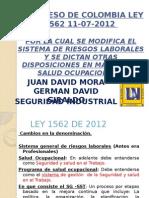 Decreto Analisis decreto Ley 1562 de 2012 Expicasion