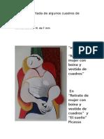 Versión Recortada de Algunos Cuadros de Picasso