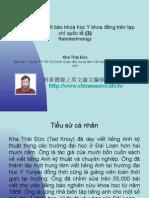 Vietnam 2.50:Tổ chức lớp viết báo khoa học Y khoa đăng trên tạp chí quốc tế (3)