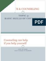 Basic Skills of Counseling