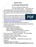 quick tips-standards based iep