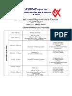 ASOVAC Sectorial Maracaibo Cronograma