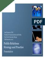 Pr Strategy Practice Fall 2009 Pejcinova