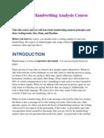 Free Basic Handwriting Analysis Course