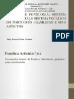 Fonetica e Fonologia Sistema Consonantal e Sistema