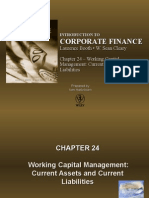 Working Capital Management Current Assets