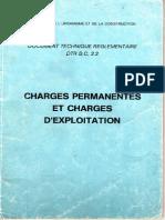 Charges Permanentes Et Charges d'Exploitation