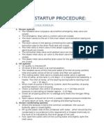 Turbine Startup Procedure