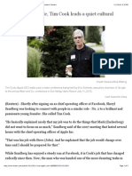 INSIGHT - At Apple, Tim Cook leads a quiet cultural revolution | Reuters