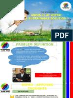 Sustainability at Wipro Case Analysis