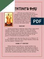 HISTORY OF SAINT VALENTINE'S DAY