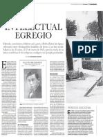Intelectual Egregio. Pedro Zulen en Variedades.