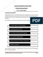 Technical CommunicationScientific English