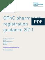 GPhC Pharmacist Registration Guidance