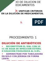 Metodo de Dilucion de Medicamentos