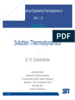 Thermo II Lecture 2 SolutionThermo