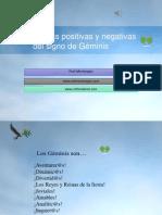 Características positivas y negativas del signo de Géminis