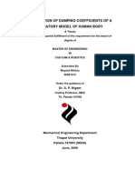 EVALUATION OF DAMPING COEFFICIENTS OF A VIBRATORY MODEL OF HUMAN BODY