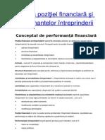 Analiza Poziţiei Financiară Şi Performantelor Întreprinderii