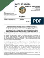 Nevada County BOS Agenda for Feb. 10, 2015