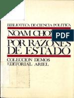 Por Razones de Estado - Chomsky, Noam
