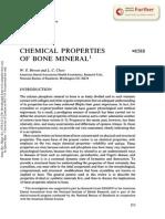Chemical Properties of Bone Mineral