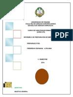 Informe de Elaboración de Mermelada
