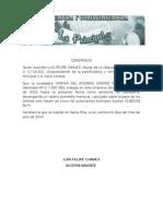 Carta de Trabajo (Plantilla)