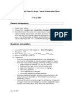 CCGC Cargo 111 Course information Sheet