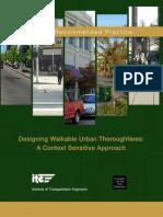 ITE - Design Walkable Urban Thoroughfares
