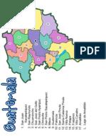 Mapa de Guatemala y Alta Verapaz Con Departamentos