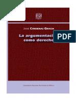 Argumentacion Como Derecho. La_Cardenas Gracia