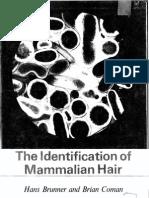 the Identification of Mammalian Hair