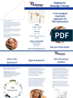 TMJ Pamphlet from Performax Health Group in Burnaby B.C.