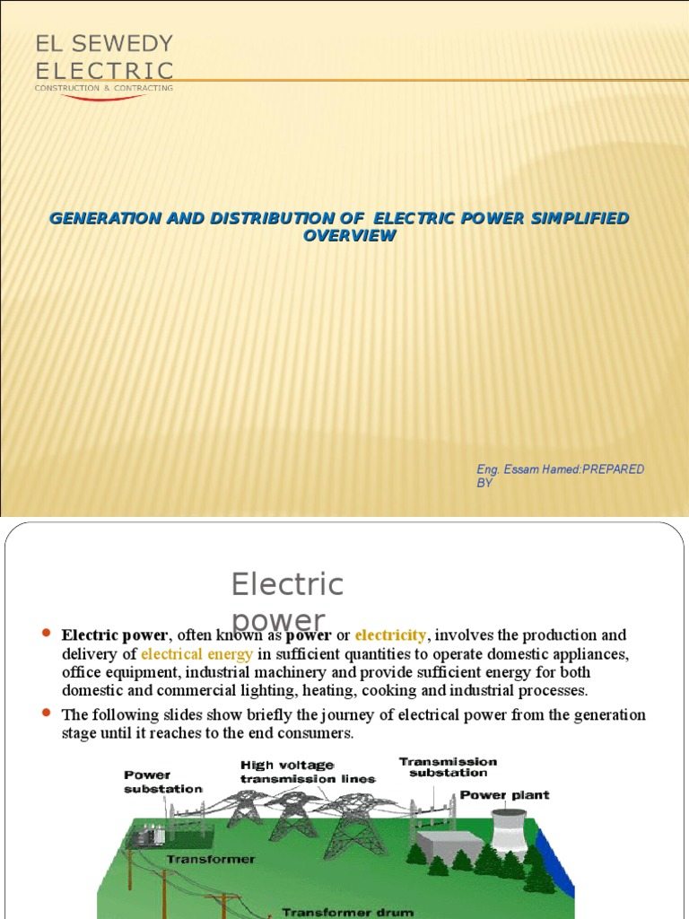 El Sweedy Electrical Substation Power Station House Wiring Ppt Download