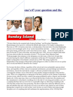 President Sirisena's 67-year question and the 100-Day Plan.odt