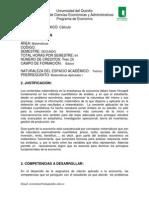 Microcurrículo de Cálculo Diferencia UQ