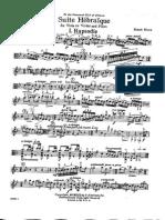 Bloch Suite Hebraica for Vla and Piano Viola