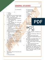 General Studies Previous Paper 1998