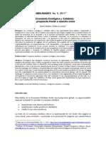 2. 2011 La Economia Solidaria y Ecologia, Una Propuesta Frente a La Crisis
