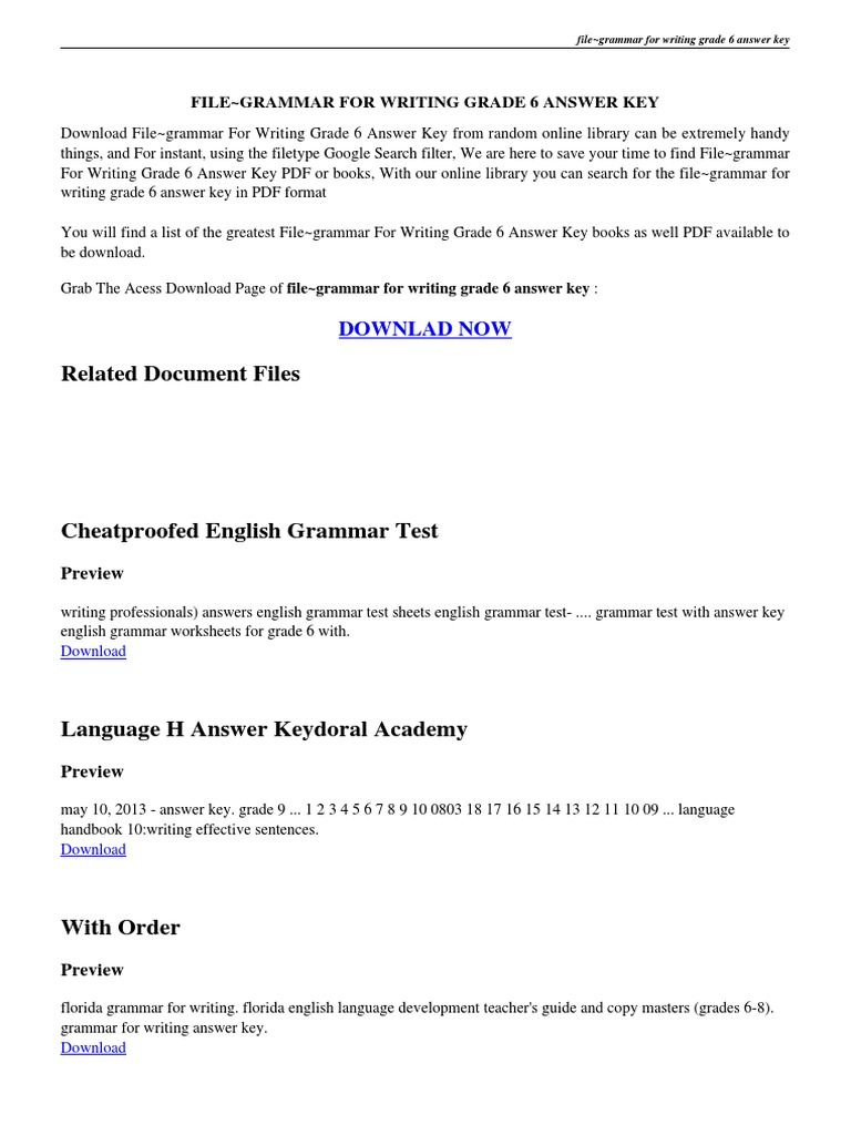 grammar and writing pdf