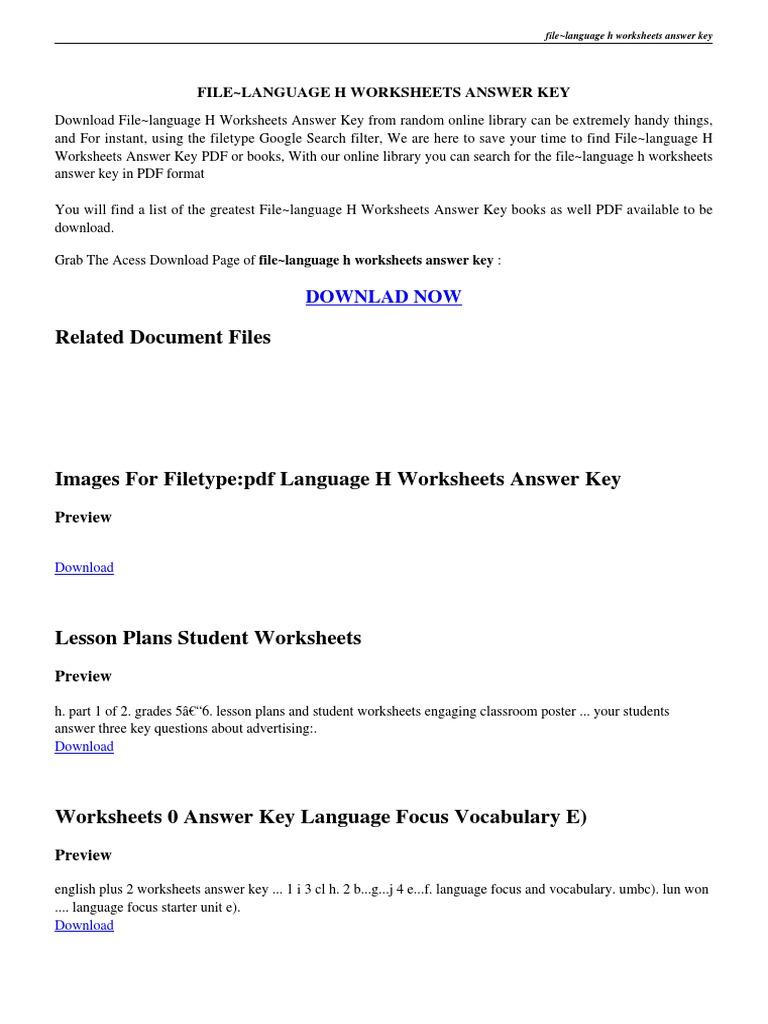 Printables Language Handbook Worksheets Answer Key Online language handbook worksheets answer key pdf