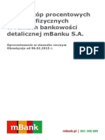 MBank - Tabela oprocentowania od 6 lutego 2015 roku