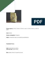 Minerales oxidados y sulfurosos