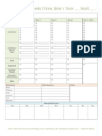 Ambleside Online Year 1 Weekly Schedule BLANK