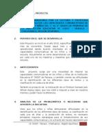 Proyecto I.E. Pairaca - Chalhuanca