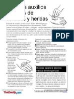 PRIMEROS AUXILIOS  EN CORTADAS Y HERIDAS