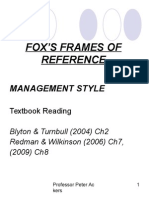 Fox s Frames of Reference